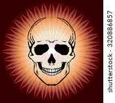 vector image of human skull and ...   Shutterstock .eps vector #320886857
