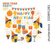 new year party  happy new year  ... | Shutterstock .eps vector #320891381