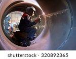 the welder weld root weld from... | Shutterstock . vector #320892365