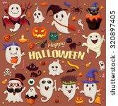 vintage halloween poster design ... | Shutterstock .eps vector #320897405