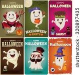 vintage halloween poster design ... | Shutterstock .eps vector #320897435