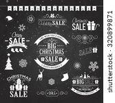 christmas sale design set  ... | Shutterstock .eps vector #320899871