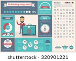 three d printing infographic... | Shutterstock .eps vector #320901221