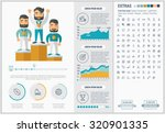 sports infographic template and ... | Shutterstock .eps vector #320901335