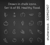 healthy food icon set hand... | Shutterstock .eps vector #320902907