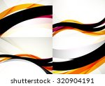 set of abstract backgrounds.... | Shutterstock .eps vector #320904191