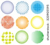 vector halftone colorful dots... | Shutterstock .eps vector #320905595