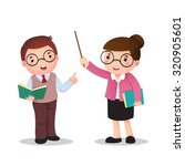 profession's costume of teacher ... | Shutterstock .eps vector #320905601