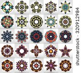 beautiful mandala set. round... | Shutterstock .eps vector #320912984