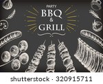 barbecue grill meat food and... | Shutterstock .eps vector #320915711