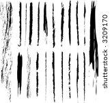 grunge brushes for framing and... | Shutterstock .eps vector #3209170