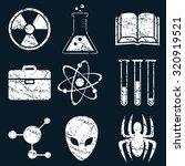 science icon set  white...