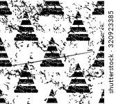 traffic cone pattern  grunge ...