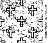 catholic cross pattern  grunge  ...