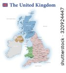 united kingdom administrative... | Shutterstock . vector #320924447