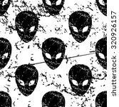 alien pattern  grunge  black...