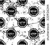 stop sign pattern  grunge ...