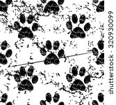 animal paw pattern grunge ...