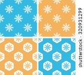 snowflake pattern set  simple...