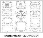swirl frames | Shutterstock .eps vector #320940314