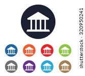 government vector icon for web... | Shutterstock .eps vector #320950241