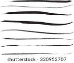set of grunge brush strokes  | Shutterstock .eps vector #320952707
