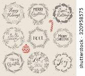 christmas wreath set for logo...