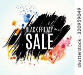 black friday sale background.... | Shutterstock .eps vector #320959049