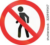 no pedestrians sign in the... | Shutterstock . vector #320959547