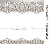 elegance mandala. doodle vector ... | Shutterstock .eps vector #320960969