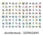 flat line colorful icons... | Shutterstock .eps vector #320962694