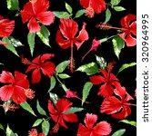 Tropical Flowers Pattern On A...