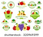 set of fruit logo templates.... | Shutterstock .eps vector #320969399