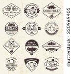 set of  retro styled fruit logo ...   Shutterstock .eps vector #320969405