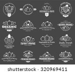 set of fruit and vegetables... | Shutterstock .eps vector #320969411
