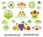 set of fruit and vegetables... | Shutterstock .eps vector #320969414