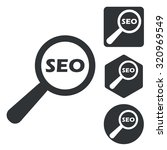seo search icon set  monochrome ...