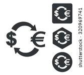 dollar euro exchange icon set ...
