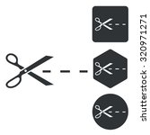 cut icon set  monochrome ...