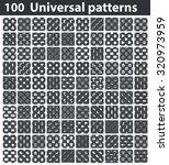 universal patterns set  white...