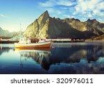 Sunset   Reine  Lofoten Island...