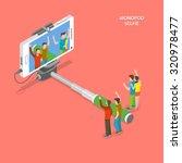 selfie monopod isometric flat... | Shutterstock .eps vector #320978477
