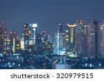 abstract blurred bokeh city... | Shutterstock . vector #320979515