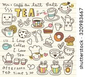 set of tea and coffee doodle | Shutterstock .eps vector #320983667