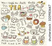 set of tea and coffee doodle | Shutterstock .eps vector #320983667