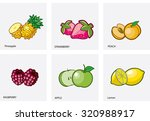 illustration of a set of fruit | Shutterstock .eps vector #320988917