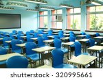 empty classroom with desks and... | Shutterstock . vector #320995661