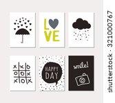 set of creative cards design.... | Shutterstock .eps vector #321000767