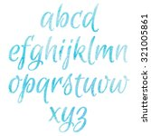 watercolor blue alphabet. | Shutterstock .eps vector #321005861