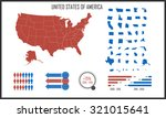 usa us map infographic elements ... | Shutterstock .eps vector #321015641